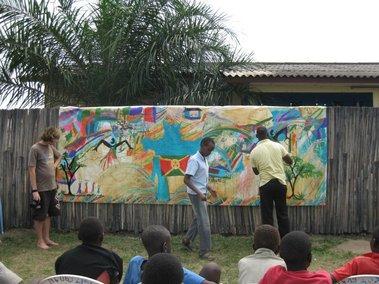 From burundi friends international with love newsletter v for Art miles mural project